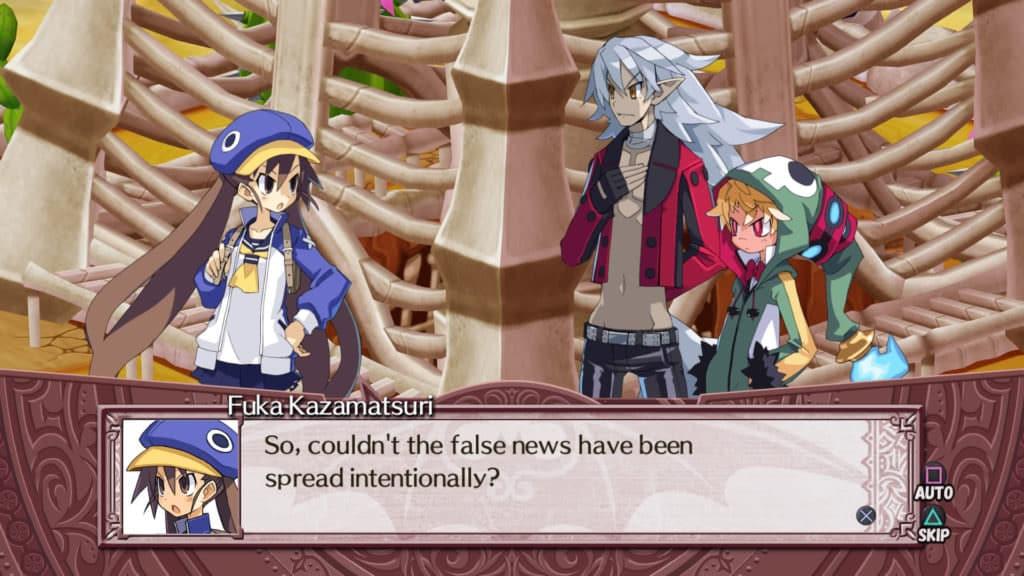 Disgaea 4 Complete+ - Fuka Kazamatsuri hints to Emizel the news spread intentionally - Playstation 4 -Screenshot Credit: Nir Regev via NIS America / Nippon Ichi Software