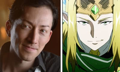 Todd Haberkorn - Anime NYC 2019 Interview - Pictured: Todd Haberkorn on left, Sword Art Online's Sugou Nobuyuki / Fairy King Oberon on right - Photo and Art Credit: Todd Haberkorn / Aniplex