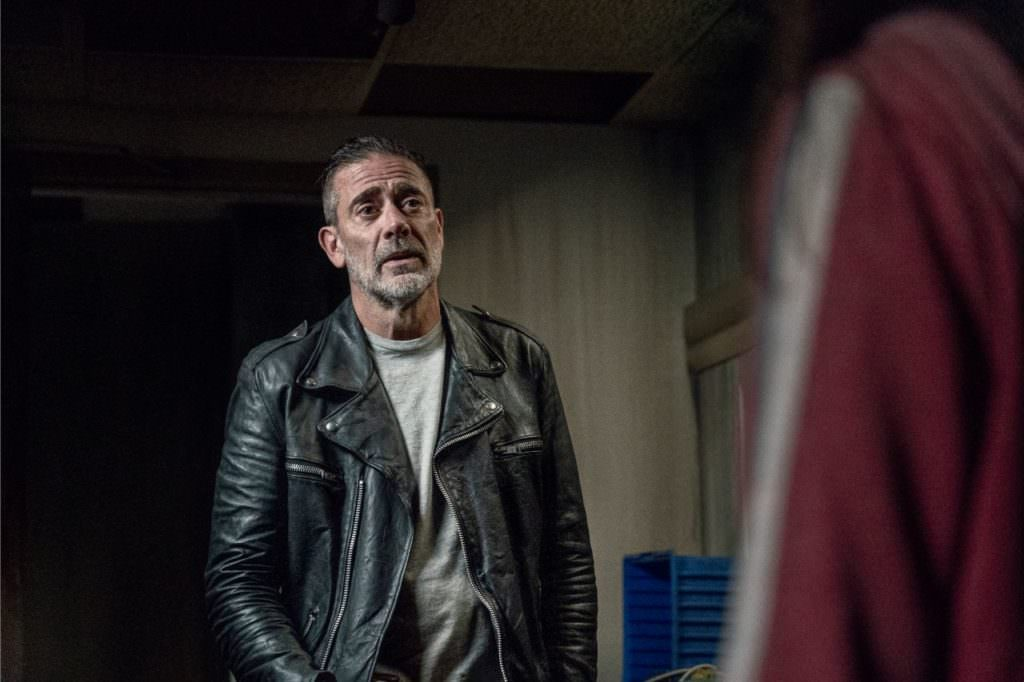 Jeffrey Dean Morgan as Negan, Cassady McClincy as Lydia - The Walking Dead _ Season 10, Episode 15 - Photo: Jace Downs/AMC
